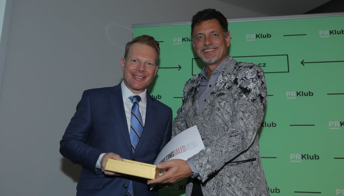 Patrik Schober Honored as the Golden Semicolon competition's PR Personality of the Year